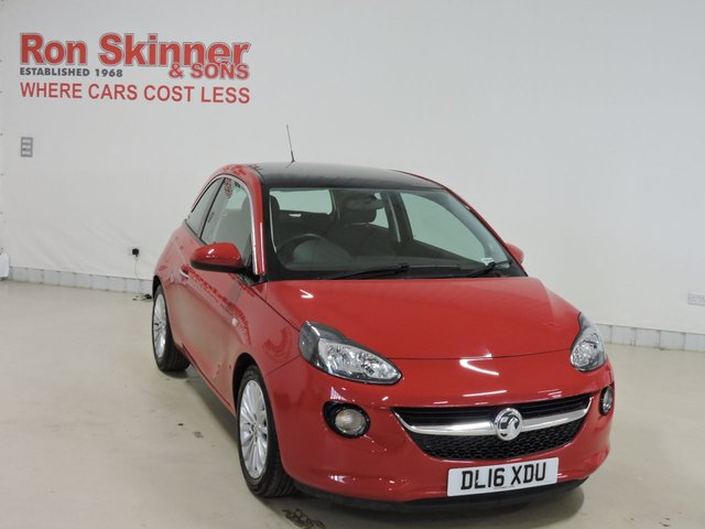 View our 2016 16 VAUXHALL ADAM 1.4 GLAM 3d 85 BHP