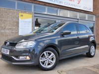 USED 2016 66 VOLKSWAGEN POLO 1.0 MATCH 5d 60 BHP SUPER LOW MILEAGE EXAMPLE WITH VW SERVICE HISTORY & £20 ROAD TAX