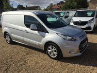 USED 2015 15 FORD TRANSIT CONNECT 1.6 240 LIMITED P/V 1d 114 BHP CLIMATE CONTROL, HEATED SEATS ,3 SEATS GREAT SPEC VAN