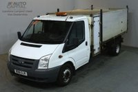 USED 2011 61 FORD TRANSIT 2.4 350 HD E/F 140 BHP LWB S/CAB TWIN WHEEL TIPPER REAR BED LENGTH 9 FOOT 10 INCH