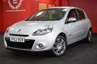 USED 2012 62 RENAULT CLIO 1.2 DYNAMIQUE TOMTOM TCE 5d 100 BHP
