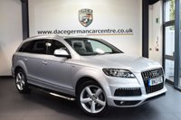 USED 2013 13 AUDI Q7 3.0 TDI QUATTRO S LINE 5DR AUTO 245 BHP full service history  SILVER WITH FULL BLACK LEATHER/SUEDE INTERIOR  + FULL SERVICE HISTORY + SATELLITE NAVIGATION + CRUISE CONTROL + HEATED SPORT SEATS + PARKING SENSORS  + 20 INCH ALLOY WHEELS