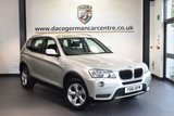 USED 2011 61 BMW X3 2.0 XDRIVE20D SE 5DR AUTO 181 BHP + FULL BLACK LEATHER INTERIOR + EXCELLENT SERVICE HISTORY + 1 OWNER FROM NEW + PRO SATELLITE NAVIGATION + BLUETOOTH + HEATED SEATS + LIGHT PACKAGE + CRUISE CONTROL + PARKING SENSORS + 18 INCH ALLOY WHEELS +