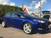 USED 2015 15 FORD FOCUS 1.0 ZETEC S 5d 125 BHP IN DEEP IMPACT BLUE AND ONLY TWENTY POUNDS TAX NO DEPOSIT  PCP/HP FINANCE ARRANGED, APPLY HERE NOW