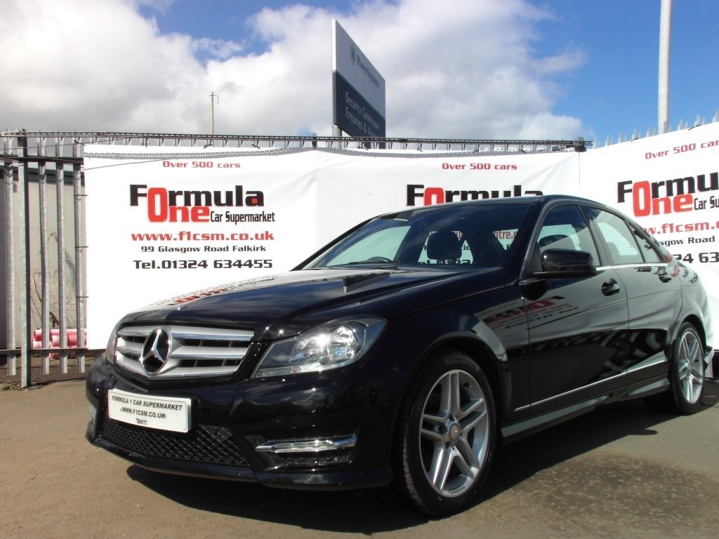 USED 2013 63 MERCEDES-BENZ C-CLASS 1.6 C180 AMG Sport 4dr LOW MILES+HALF LEATHER+VALUE