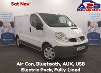 USED 2014 14 RENAULT TRAFIC 2.0 DCI 115 BHP with Sat Nav, Air Con, Bluetooth, Full History, Very Clean Pedigree Example **Drive Away Today** Over The Phone Low Rate Finance Available