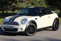 2014 MINI COUPE 1.6 COOPER 2d AUTO 120 BHP £9480.00