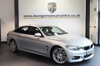 USED 2016 16 BMW 4 SERIES GRAN COUPE 3.0 430D M SPORT GRAN COUPE 4DR 255 BHP full bmw service history  GLACIER SILVER METALLIC WITH FULL BLACK LEATHER INTERIOR + FULL BMW SERVICE HISTORY + PRO SATELLITE NAVIGATION + BLUETOOTH + CRUISE CONTROL + HEATED SPORT SEATS + PARK DISTANCE CONTROL + DAB RADIO + AUX PORT + 18 INCH ALLOY WHEELS