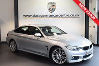 USED 2016 16 BMW 4 SERIES GRAN COUPE 3.0 430D M SPORT GRAN COUPE 4DR 255 BHP full bmw service history  *WAS £22,970 SAVE £1,500* GLACIER SILVER METALLIC WITH FULL BLACK LEATHER INTERIOR + FULL BMW SERVICE HISTORY + PRO SATELLITE NAVIGATION + BLUETOOTH + CRUISE CONTROL + HEATED SPORT SEATS + PARK DISTANCE CONTROL + DAB RADIO + AUX PORT + 19 INCH ALLOY WHEELS
