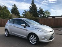 2008 FORD FIESTA 1.25 ZETEC 3d WITH AIR CON AND ALLOYS £3250.00