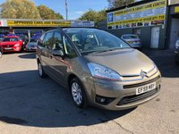 2009 CITROEN C4 GRAND PICASSO 2.0 VTR PLUS HDI EGS 5d AUTO 134 BHP IN STUNNING CONDITION WITH ONLY 73000 MILES AND SEVEN SEATS. £3899.00