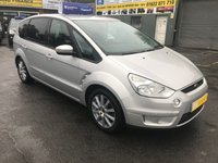 2009 FORD S-MAX 1.8 ZETEC TDCI 6SPD 5 DOOR 125 BHP IN SILVER WITH ONLY 75000 MILES WITH FRONT AND REAR PARKING SENSORS. £4799.00