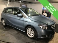 USED 2014 63 MERCEDES-BENZ B CLASS 1.8 B200 CDI BLUEEFFICIENCY SE 5d AUTO 136 BHP Only £30 a year road tax : Bluetooth : Cloth upholstery : Isofix fittings : Paddleshift controls : Rear view camera : Front and rear parking sensors : Full service and MOT when sold