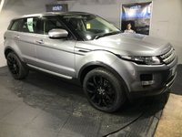 USED 2012 61 LAND ROVER RANGE ROVER EVOQUE 2.2 SD4 PRESTIGE LUX 5d AUTO 190 BHP TV  :  Bluetooth  :  Sat Nav  :  DAB Radio  :  Full leather upholstery  :  Heated front seats  :  Electric driver + passenger seats   :   Heated front screen   :   Fixed panoramic glass roof   :   Meridian sound system   :   Surround camera system   :   Front and rear parking sensors  :  Park Assist system  :  Remotely operated tailgate  :  Comprehensive service history