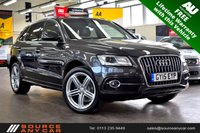 USED 2015 15 AUDI Q5 2.0 TDI QUATTRO S LINE PLUS 5d AUTO 175 BHP +  AUDI  SERVICE HISTORY + FREE LIFETIME WARRANTY + 12 MONTHS MOT + HEATED LEATHER +