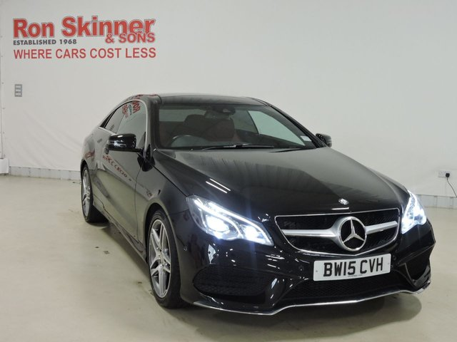 View our 2015 15 MERCEDES-BENZ E-CLASS 2.1 E220 BLUETEC AMG LINE 2d AUTO 174 BHP