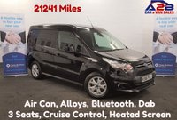 USED 2016 16 FORD TRANSIT CONNECT 1.6 200 LIMITED 115 BHP, 21241 MILES in Black, Air Con, Cruise Control, 3 Seats, Bluetooth, Alloys, PEDIGREE EXAMPLE **Drive Away Today** Over The Phone Low Rate Finance Available, Just Call us on 01709 866668
