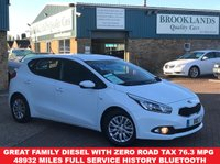 2013 KIA CEED 1.6 CRDI 1 WHITE with Grey Cloth ECODYNAMICS 5d 126 BHP £SOLD