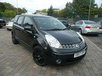 2008 NISSAN NOTE 1.4 ACENTA R 5d 88 BHP £SOLD