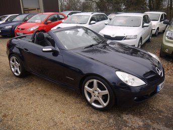 2005 MERCEDES-BENZ SLK 200 1.8 Kompressor 2 Door Automatic Convertible In Blue / Full Black Leather  £5995.00