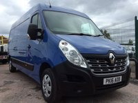 USED 2016 16 RENAULT MASTER LWB 2.3 LM35 BUSINESS PLUS ENERGY DCI S/R 135 BHP  NEW MOT NO VAT MANUFACTURER'S WARRANTY NEW MOT NO VAT SPARE KEY REAR PARKING SENSORS BLUETOOTH ELECTRIC WINDOWS AND MIRRORS 6 SPEED AIR CONDITIONING SATELLITE NAVIGATION