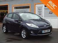USED 2012 12 FORD FIESTA 1.4 ZETEC 16V 5d 96 BHP 5 Service Stamps ,Bluetooth , Aux ,USB