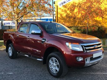 2014 FORD RANGER 2.2 LIMITED DOUBLE CAB TDCI 150 LEATHER LOW MILES £10950.00