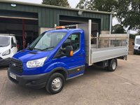 2015 FORD TRANSIT 2.2 350 Lwb diopside pick up 125 BHP £11950.00