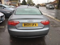 USED 2009 09 AUDI A5 1.8 TFSI SPORT COUPE 170 BHP Lovely example - FSH - 1/2 leather, aircon, alloys