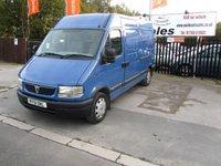 2001 VAUXHALL MOVANO 2.2 3.3T MWB H/R 2.2DTI 1d 90 BHP £2195.00
