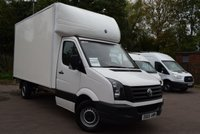2016 VOLKSWAGEN CRAFTER 2.0 CR35 TDI C/C 1d 109 BHP LWB WITH LUTON BODY AND TAIL LIFT £13999.00