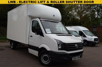USED 2016 65 VOLKSWAGEN CRAFTER 2.0 CR35 TDI C/C 1d 109 BHP LWB WITH LUTON BODY AND TAIL LIFT A LWB Vw Crafter 2.0tdi 109 LUTON BODIED VAN WITH A ROLLER SHUTTER DOOR AND ELECTRIC TAILGATE LIFT. The perfect man with a van vehicle, removals van or delivery van. Ply lined in the rear. 3 service stamps, includes a pre delivery inspection report and 6 months warranty. Nationwide AA extended warranties with roadside assistance packages available for up to 36 months.