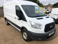 USED 2015 15 FORD TRANSIT 2.2 350 SHR P/V 1d 124 BHP 2015 LWB MID ROOF 71000 MILES ONE OWNER FROM NEW