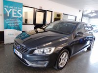 USED 2014 64 VOLVO V60 2.0 D4 BUSINESS EDITION 5d 178 BHP One company owner, full Volvo service history. Finished in Metallic Savile Grey with Black cloth seats.