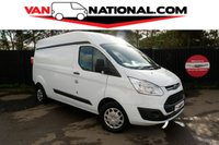 2017 FORD TRANSIT CUSTOM 2.0 290 TREND L2 H2 P/V 130 BHP  (EURO 6 LONG AND HIGH AIR CON) £16490.00