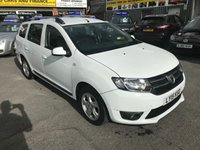 2015 DACIA LOGAN MCV 1.5 LAUREATE DCI 5 DOOR 90 BHP ESTATE IN WHITE WITH ONLY 52000 MILES.   £5799.00