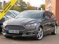 USED 2015 65 FORD MONDEO 2.0 TITANIUM TDCI 5d AUTO 148 BHP AUTOMATIC, NAVIGATION + HEATED SEATS