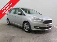USED 2016 16 FORD GRAND C-MAX 1.5 ZETEC TDCI 5d AUTO 118 BHP SAT NAV 1 Owner, Full Ford Service History, serviced in August 2017 at 2,179 miles and August 2018 at 4,000 miles, this is a stunning 7 Seat Ford Grand C Max, huge saving over new car list price. In Metallic Moondust Silver the car has SAT NAV, Parking Sensors, Ford Sync, Heated Front & Rear Windscreens, A/c, Bluetooth, Leather Multi Functional Steering Wheel, Electric Windows and Wing Mirrors, alloy wheels, £30 RFL & comes with the balance of Ford Warranty and the MOT not due until the 30th July 2019.