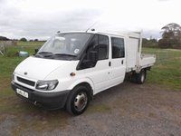 2001 FORD TRANSIT 2.4 350L 4d 123 BHP Crew Cab, Drop side, Pick Up, Tool Box, NO VAT £3995.00