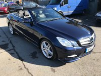 2012 MERCEDES-BENZ E CLASS 3.0 E350 CDI BLUEEFFICIENCY SPORT 2d AUTO 265 BHP IN METALLIC BLUE WITH 87000 MILES  £12999.00