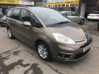 2011 CITROEN C4 GRAND PICASSO 2.0 VTR PLUS HDI 5d 148 BHP 7 SEATER IN METALLIC BROWN WITH 61000 MILES £5799.00