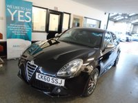 "USED 2010 60 ALFA ROMEO GIULIETTA 1.7 1750 TBI CLOVERLEAF 5d 235 BHP RARE CAR!! This 235 BHP Alfa Guilietta 1750 Cloverleaf TBi  is finished in black metallic, silver mirror caps with Black electric lumbar supported leather & cloth Alfa embossed seats. Its had 7 Alfa Romeo Cardiff Services, including 2 cambelt changes! Last done in December 2017. It is fitted with power steering, remote locking, electric windows, mirrors, cruise control, 18"" Alloy Wheels painted in grey chrome aux & USB ports, start stop, led day lights, dual zone air conditioning and more"