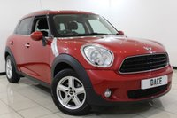 USED 2013 13 MINI COUNTRYMAN 1.6 ONE 5DR 98 BHP Full Service History FULL SERVICE HISTORY + BLUETOOTH + PARKING SENSOR + CLIMATE CONTOL + DAB RADIO + 16 INCH ALLOY WHEELS