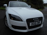 2010 AUDI TT 1.8 TFSI 2d 160 BHP CONVERTIBLE ** ELECTRIC ROOF , ALLOY WHEELS , STUNNING VEHICLE , IN WHITE , ABSOLUTE BARGAIN ** £7995.00