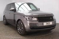 USED 2017 17 LAND ROVER RANGE ROVER 3.0 TDV6 VOGUE SE 5DR AUTO SAT NAV FULL SERVICE HISTORY 255 BHP FULL SERVICE HISTORY + HEATED/COOLED FRONT/REAR LEATHER SEATS + SATELLITE NAVIGATION + DUAL VIEW TOUCH SCREEN + ELECTRIC PANORAMIC ROOF + REVERSE CAMERA + BLUETOOTH + CRUISE CONTROL + CLIMATE CONTROL + MULTI FUNCTION WHEEL + XENON HEADLIGHTS + PRIVACY GLASS + DAB RADIO + ELECTRIC WINDOWS + RADIO/CD/USB/SD/HDMI + DVB-T TUNNER + 22 INCH ALLOY WHEELS