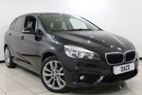 USED 2016 16 BMW 2 SERIES ACTIVE TOURER 2.0 218D SPORT ACTIVE TOURER 5DR 148 BHP 1 Owner Full Service History FULL BMW SERVICE HISTORY + HEATED LEATHER SEATS + SATELLITE NAVIGATION + PARKING SENSOR + BLUETOOTH + CRUISE CONTROL + MULTI FUNCTION WHEEL + CLIMATE CONTROL + 18 INCH ALLOY WHEELS