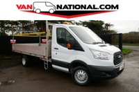2016 FORD TRANSIT 2.2 350 DROPSIDE 125 BHP LWB (TWIN WHEELER LOW MILEAGE) £15790.00