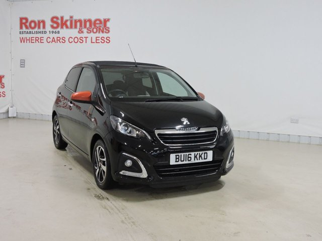 View our 2016 16 PEUGEOT 108 1.2 PURETECH ROLAND GARROS TOP 5d 82 BHP