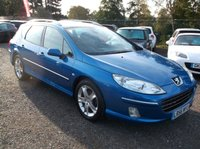 USED 2006 56 PEUGEOT 407 2.0 SW SPORT HDI 5d 135 BHP AFFORDABLE FAMILY ESTATE CAR IN EXCELLENT CONDITION, DRIVES SUPERBLY WITH EXCELLENT SERVICE HISTORY !!
