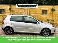 USED 2008 58 VOLKSWAGEN GOLF 1.4 GT SPORT TSI 5d AUTO 168 BHP Immaculate example finished in bright silver, with black leather and grey alloys , 170 bhp, looks and drives superb with large colour screen Sat Nav and media interface. Looks and drives superb !